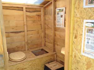 toilette sèche intérieur